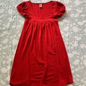 Crimson red extra small Lucy love baby doll dress